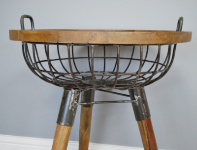 Ivan Basket Side Table