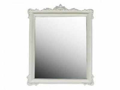Rose Edged Mirror in Antique White
