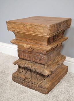 Original Indian Pillar Wooden Stool