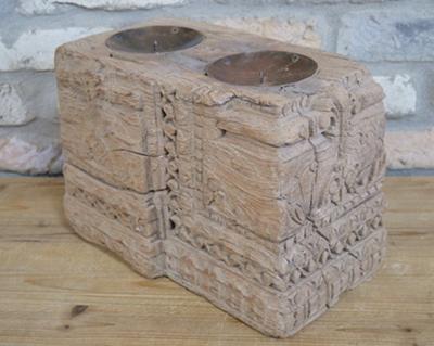 Original Indian Pillar Base Candle Holder