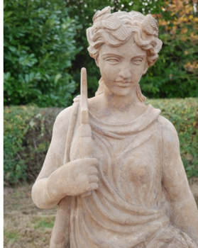 Lady With Sickle Carved Stone Statue