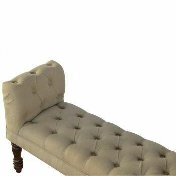 Bedroom Bench Upholstered in Mud Linen