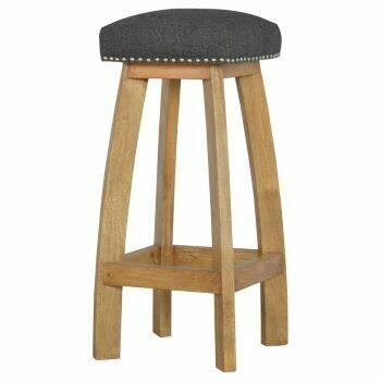 Black Tweed Bar Stool