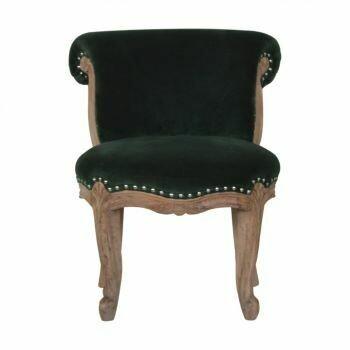 Emerald Green Velvet Studded Chair