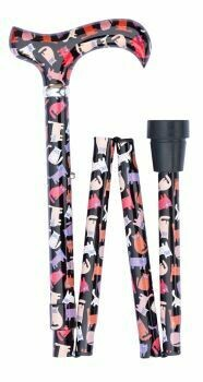 Crazy Cats Derby Folding Adjustable Walking Cane *new*