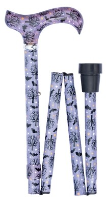 Bats in the Night Folding Walking Cane **new**
