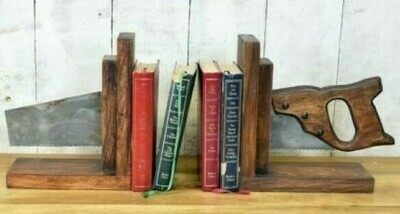 Hand Saw Book Ends