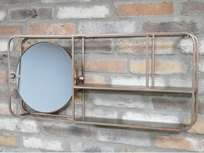 The Gregory Mirror Wall Shelf