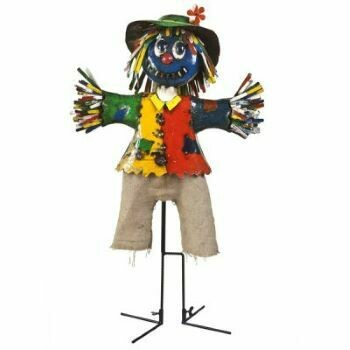 Boo Scarecrow  Recycled Sculpture