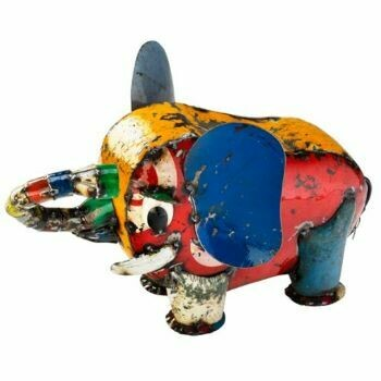 Recycled Bub Baby Elephant Sculpture