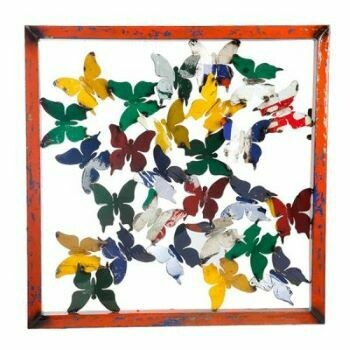 Recycled Butterfly Sculpture Panel