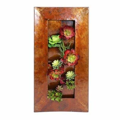 Recycled Pocket Wall Planter Sculpture