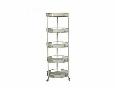 French Style Shelf Unit on Wheels
