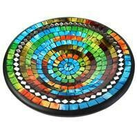 Fair Trade Mosaic Bowl - Multi Colour with Mirror