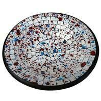 Fair Trade Mosaic Bowl - White with Spots