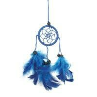 Dreamcatcher Blue Thread with Black Beads