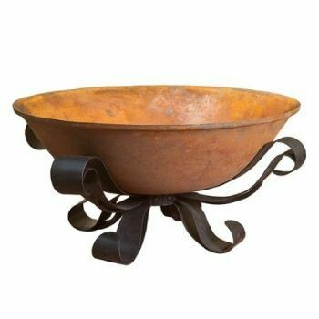 Recycled Cast Iron French Scroll Fire Pit