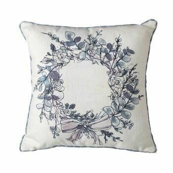 Floral Wreath Cushions (pair of)