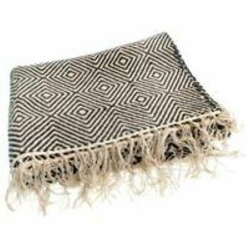 Fair Trade Black Diamond Cotton Rug