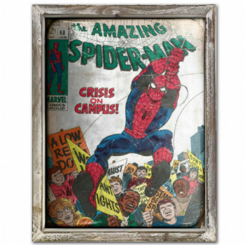 Spiderman Advert Metal Picture