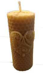 Natural Beeswax Honeycomb Heart Candle