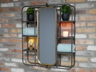 Strand Mirror Shelf Unit