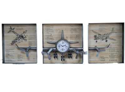 Aeroplane Clock Wall Art