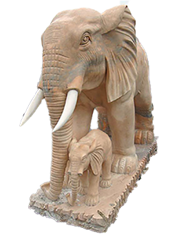 The Elephant with Baby