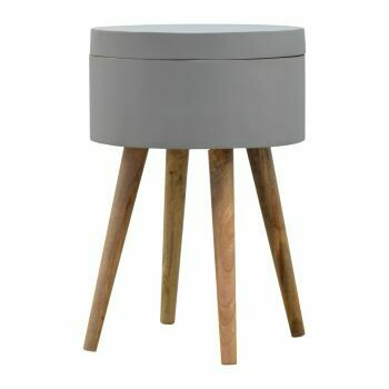 Grey Painted End Table