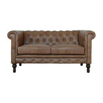 Leather Brown Chesterfield Sofa