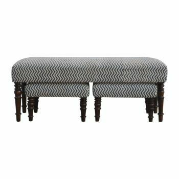 Durrie Set of 3 Benches Upholstered in Natural Jute