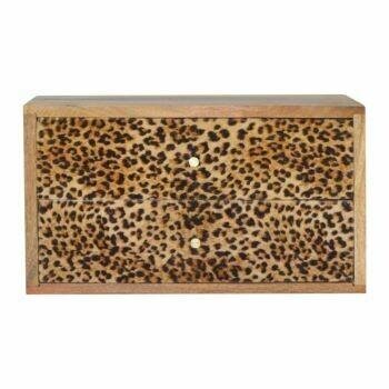 Leopard Print Wall Bedside Cabinet