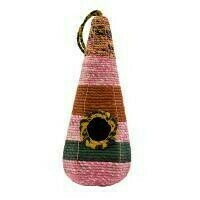 Fair Trade Tall Woven Recycled Saris Bird House