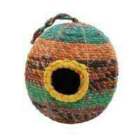 Fair Trade Woven Recycled Saris Bird House