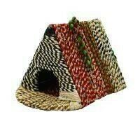 Fair Trade Recycled Woven Saris Triangle Bird House