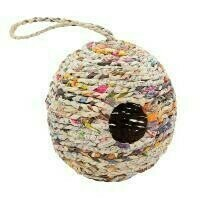 Fair Trade Woven Recycled Newspaper Oval Bird House