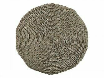 Braided Seagrass Circular Cushion