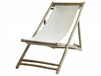 Lyon Bamboo & Linen Deck Chairs (pair of) Coming Spring 2021!
