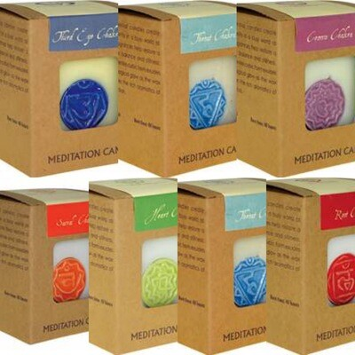 Set of Seven Chakra Candles