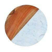 Fair Trade Wood & Marble Circular Chopping Board