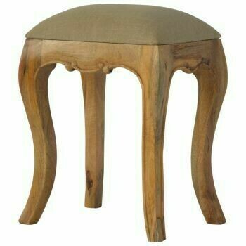 French Style Mud Linen Stool