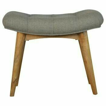 Grey Curved Bench