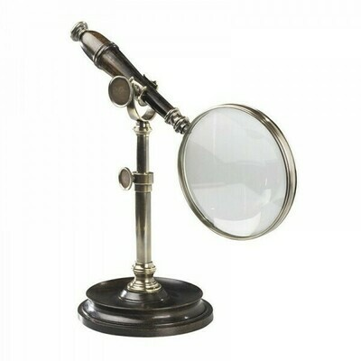 Bronze Magnifying Glass with Stand