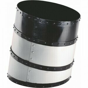 Ship's Funnel Waste Basket - White