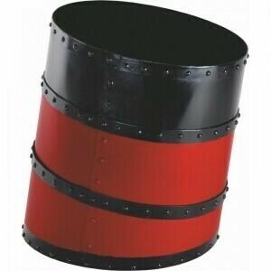 Ship's Funnel Waste Basket - Red