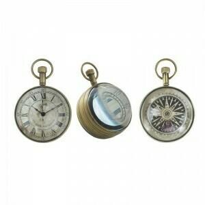 Eye of Time Bronze Finish Pocket Watch