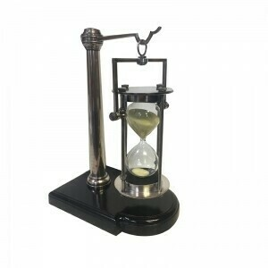 Silver 30 Minute Hourglass with Stand