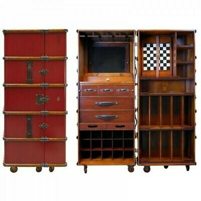 The Stateroom Bar Cabinet - Burgundy
