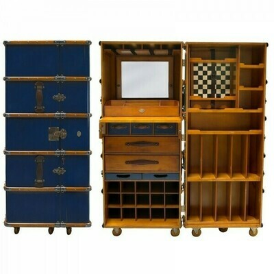 The Stateroom Bar Cabinet - Navy