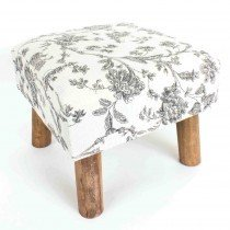 Floral Pattern Stool